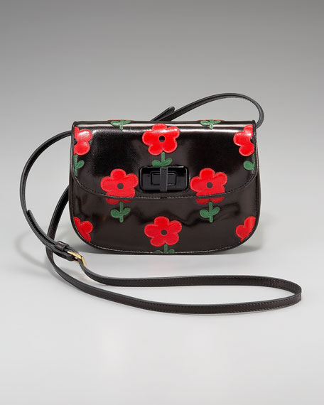 Floral-Detail Crossbody Bag