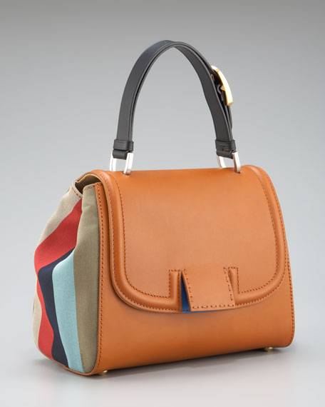 Striped Silvana Handbag