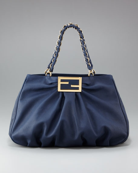 Mia Fendi Gathered Tote