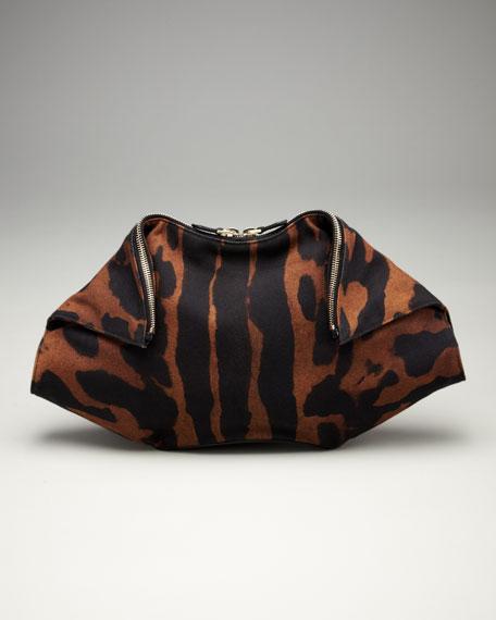 De-Manta Tiger-Print Clutch