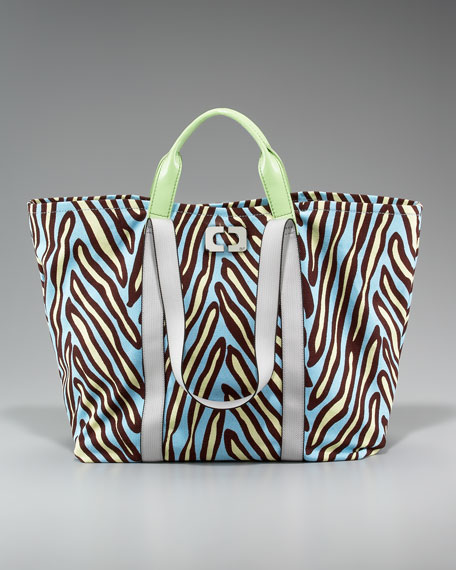 Kaya Printed Canvas Tote
