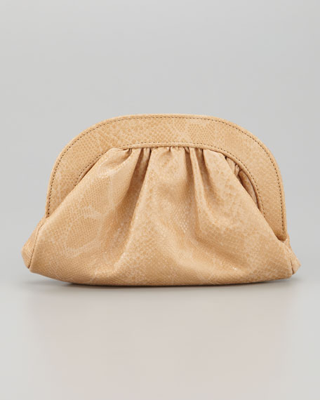 Vivi Python-Embossed Pouch