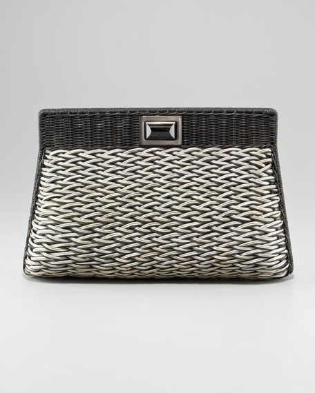 Amo Woven Clutch Bag, Large