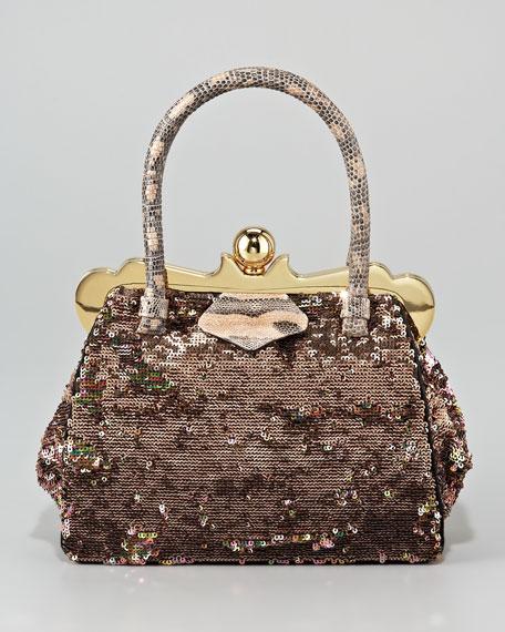 Mini Lizard-Handle Frame Bag