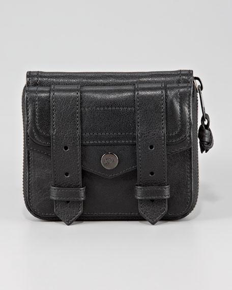 PS1 Small Zip Wallet, Black