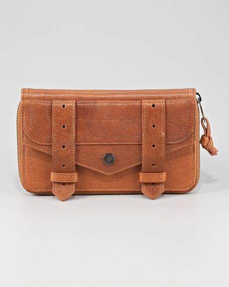 PS1 Large Zip Wallet, Saddle