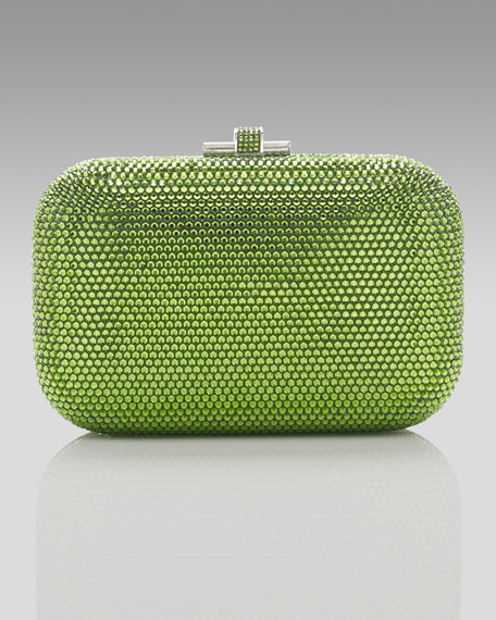 Slide Lock Minaudiere, Forest Green