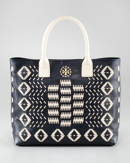 Claire Stitched Leather Tote Bag