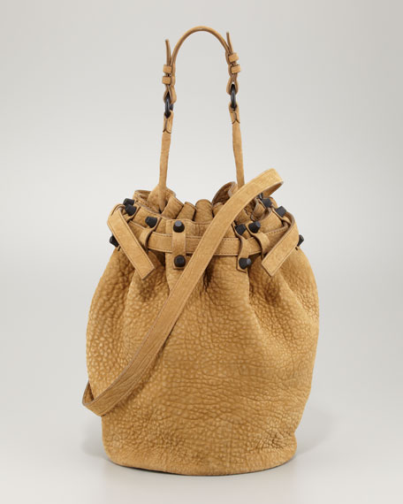 Diego Bucket Bag, Mustard