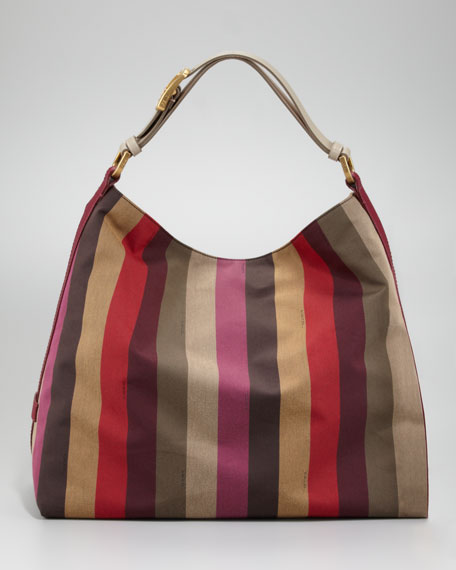 Pequin Striped Hobo Bag