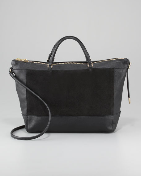 Ambre Suede Double-Function Tote Bag