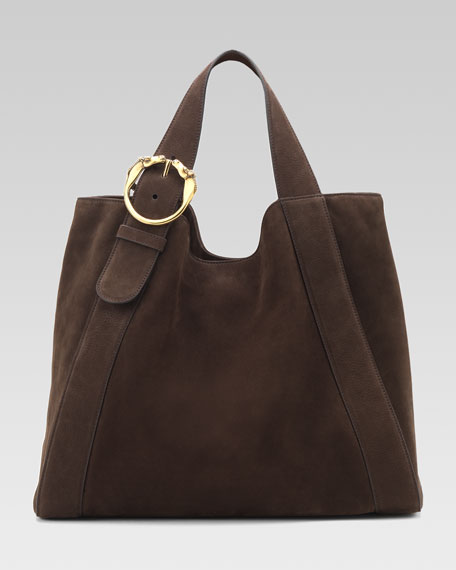 Large Ribot Tote Bag, Brown