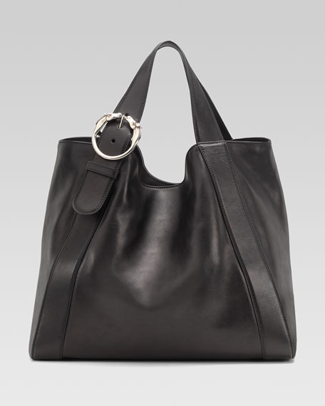 Large Ribot Tote Bag, Black