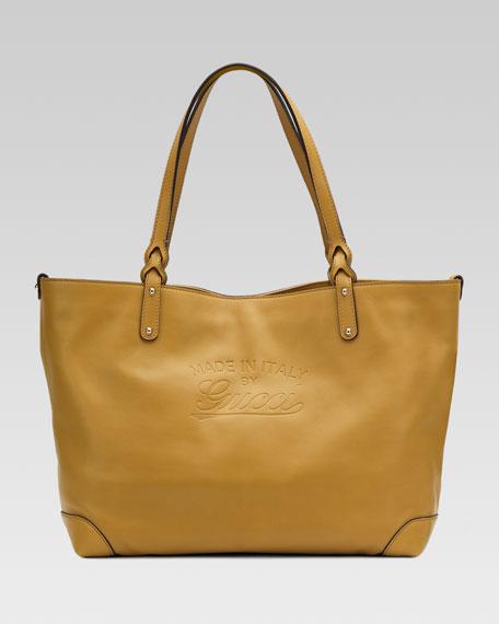 Medium Gucci Craft Tote Bag, Olive
