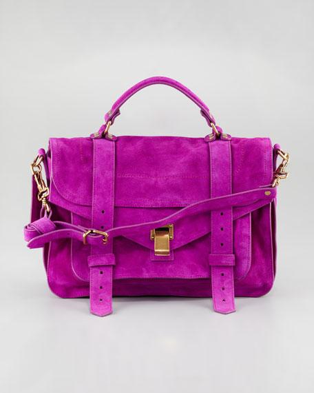 PS1 Medium Suede Satchel Bag, Orchid