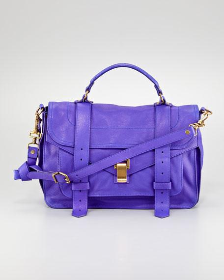 PS1 Medium Leather Satchel Bag, Purple Rain