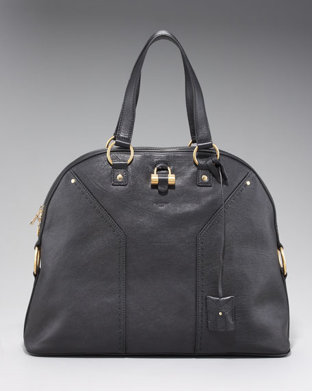 Oversize Muse Satchel Bag, Black