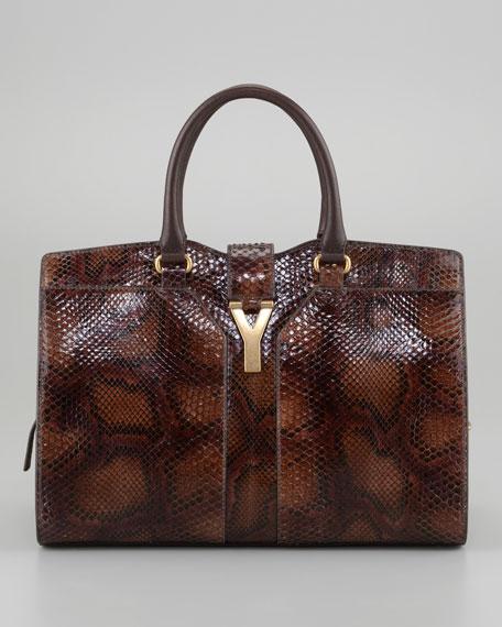 ChYc Medium Python Tote Bag