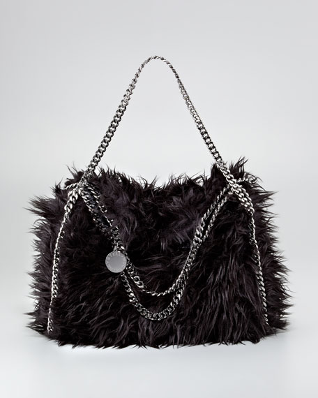 Falabella Furry Fold-Over Tote Bag