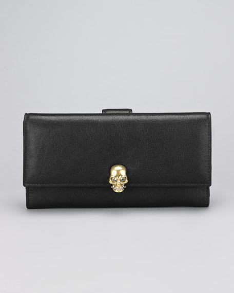 Skull-Detailed Fold Wallet