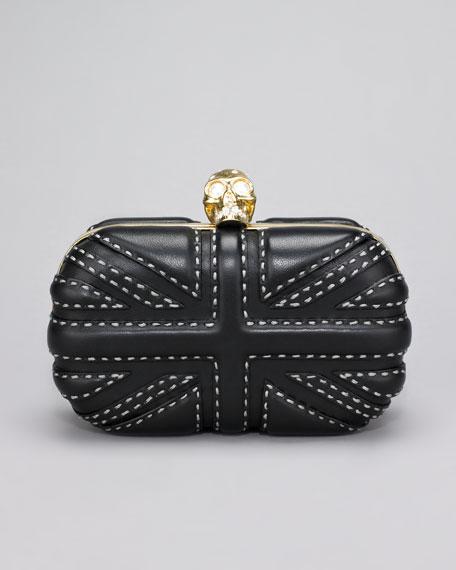 Pickstitched Britannia Box Clutch Bag