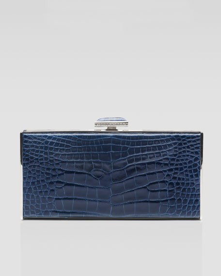 East-West Rectangle Clutch Bag, Midnight