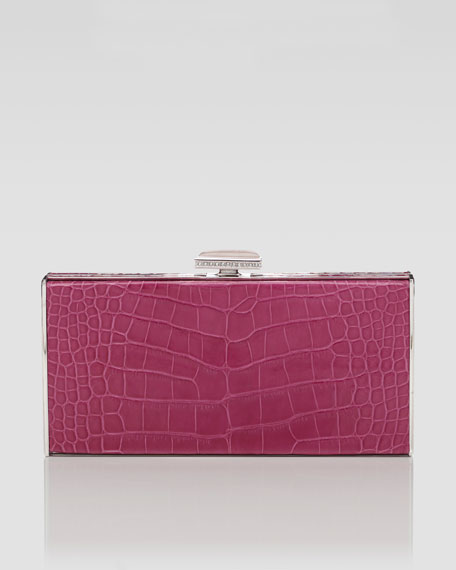East-West Rectangle Clutch Bag, Rose