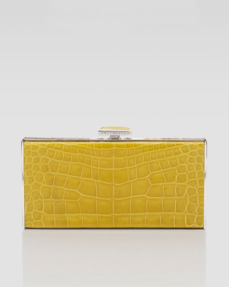 East-West Rectangle Clutch Bag, Sunflower