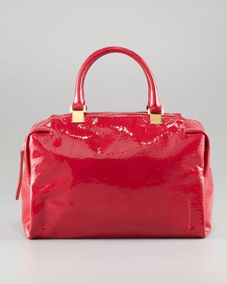 Moon River Patent Bowler Bag