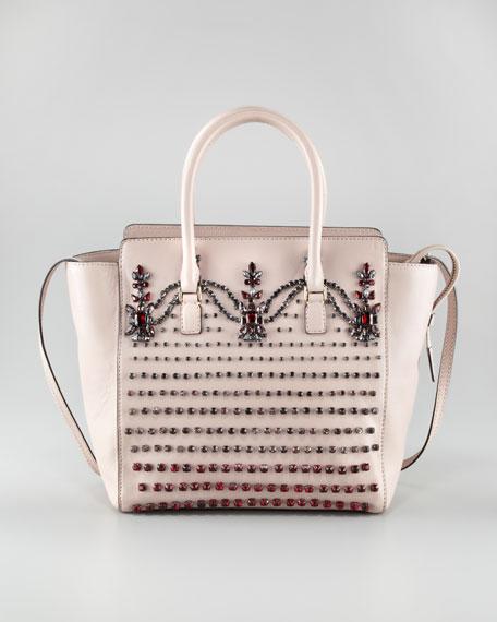 Crystal-Embellished Tote Bag