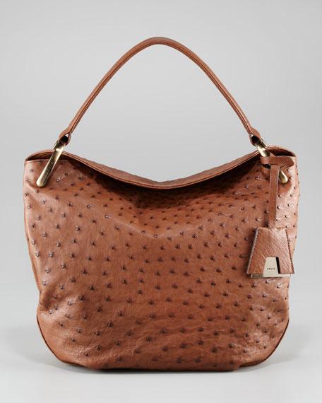 Allegra Ostrich Hobo Bag