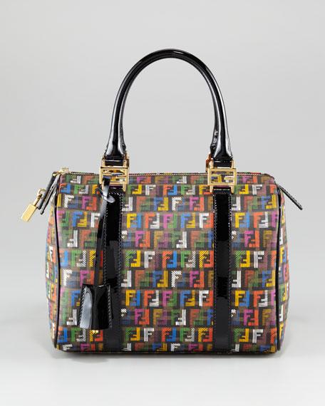 Small Multicolor Zucca-Print Bowler Bag