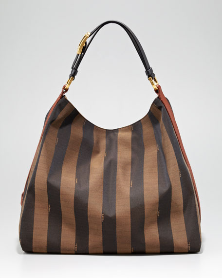 Pequin Tonal Stripe Hobo Bag