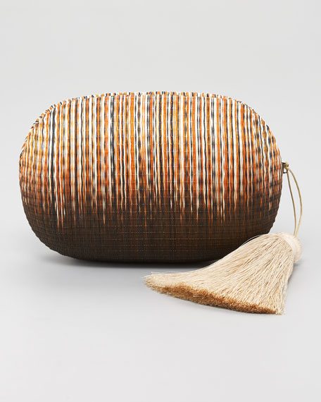 Barnes Straw Clutch Bag