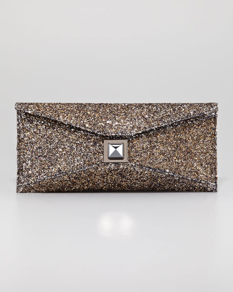 Stretch Prunella Glitter Clutch Bag