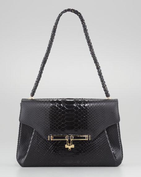 Urbana Python Tote Bag, Black