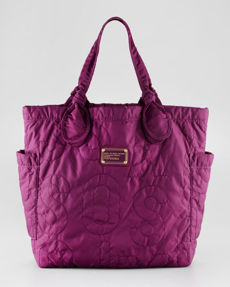 Pretty Nylon Tote Bag, Dark Magenta