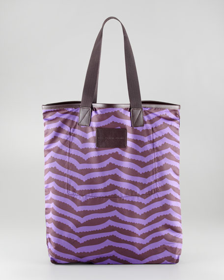 Zora Packable Striped Shopper Tote Bag