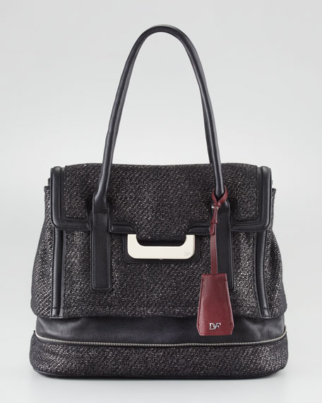 New Harper Laurel Tweed Tote Bag