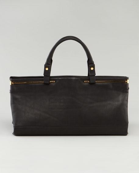 Double-Handle East-West Satchel Bag