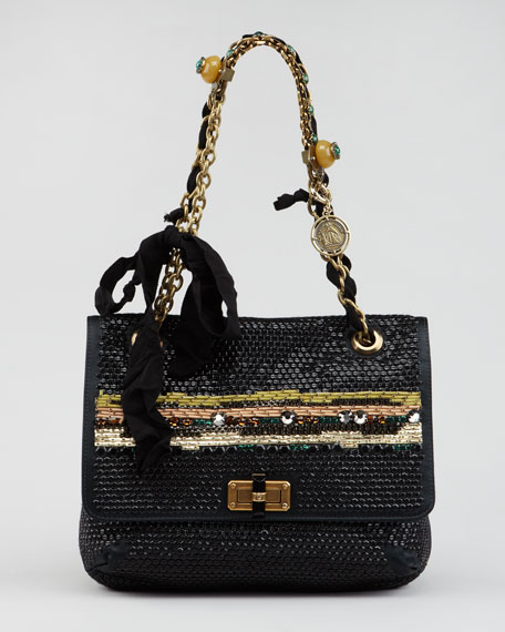 Bijoux Sequined Happy Shoulder Bag
