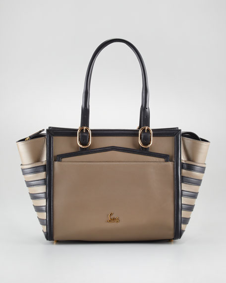 Farida Two-Tone Bowler Bag