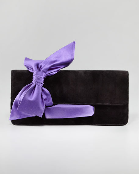 Elisa Suede Clutch Bag