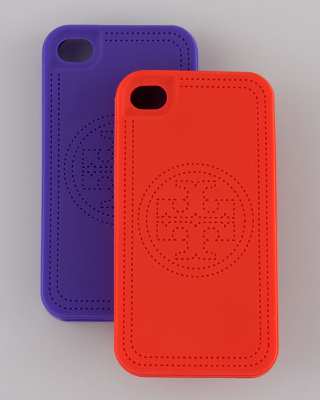 Faux-Stitched Logo iPhone 4 Case