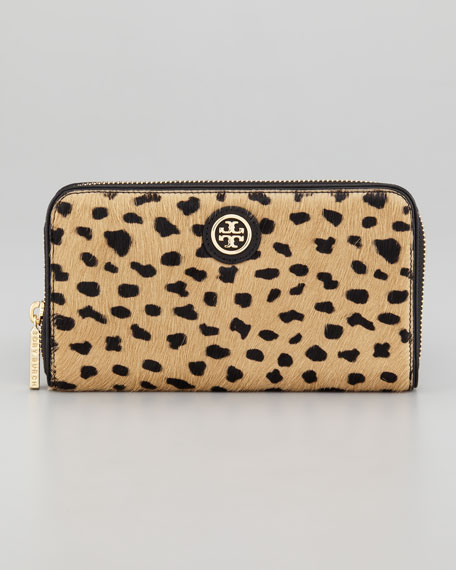 Robinson Calf-Fur Zip Continental Wallet