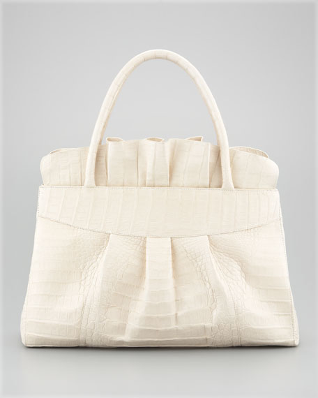Ruffle-Top Tote Bag