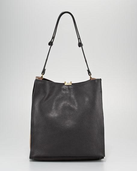 Colorblock Soft Tote Bag