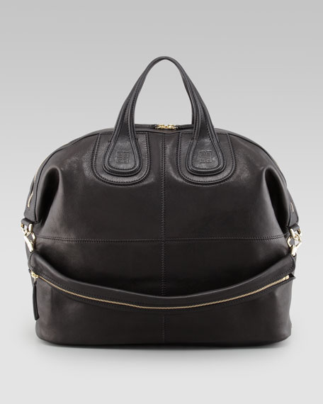 Nightingale Zanzi Large Leather Bag, Black
