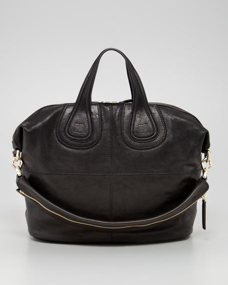 Nightingale Zanzi Medium Leather Bag, Black