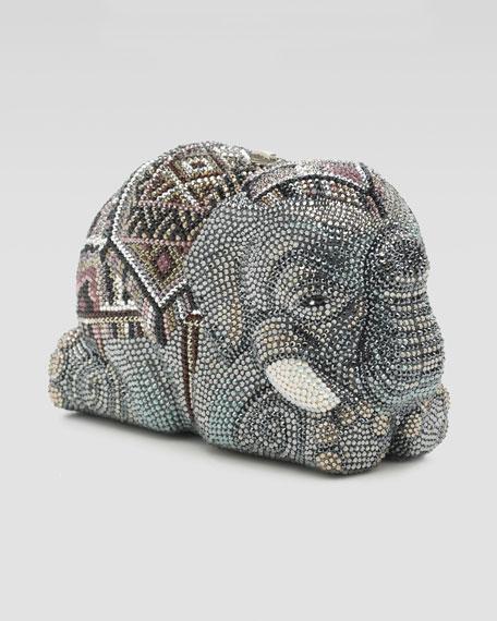 Pave Crystal Elephant Minaudiere